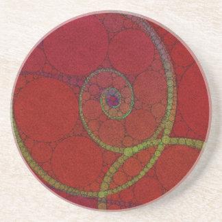 Texturerat rött cirklar mönster underlägg