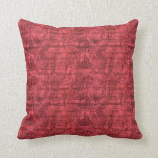 Texturerat rött kudde