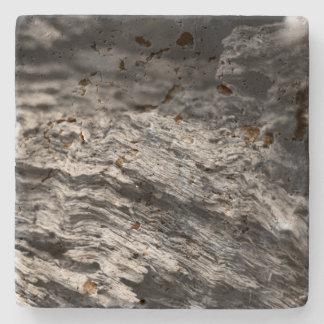 Texturerat trä i svartvitt underlägg sten