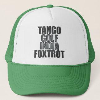 TGIF-hatt: Nato-Phonetics Truckerkeps