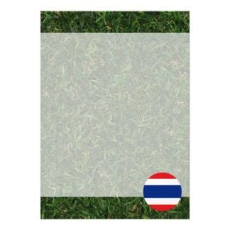 Thailand flagga på gräs 12,7 x 17,8 cm inbjudningskort