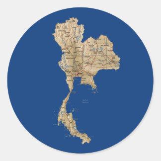 Thailand kartaklistermärke runt klistermärke