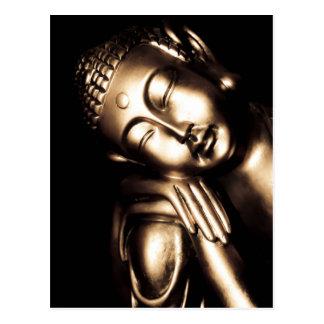 Thailändsk Buddha Wisdom. Vykort