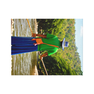 Thailändsk flodRaft Canvastryck