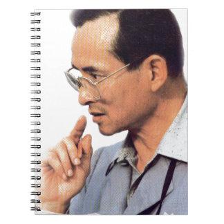 Thailändsk kung Bhumibol Adulyadej - Anteckningsbok