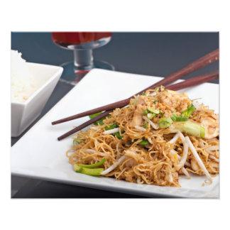 Thailändsk maträtt för matLo Mein nudlar Fototryck