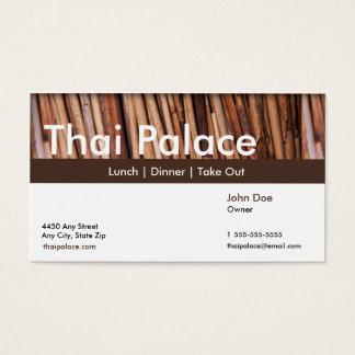 Thailändsk restaurangvisitkort visitkort