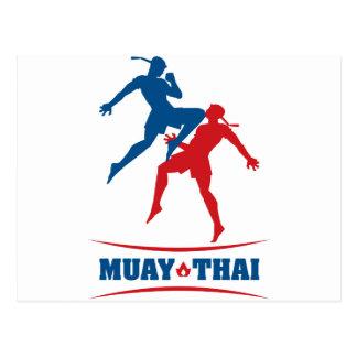 Thailändska Muay Vykort