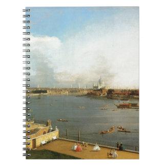 Thamesen och staden av London från Richmond Anteckningsböcker