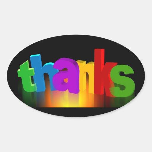 thank-you-140227 tackar dig märker för att tacka ovalformat klistermärke