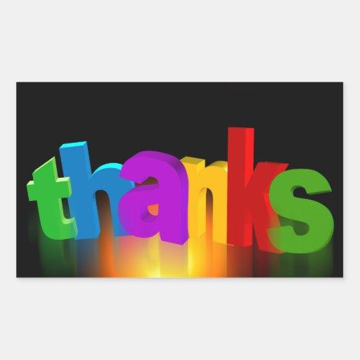 thank-you-140227 tackar dig märker för att tacka retangel klistermärke