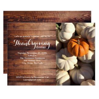Thankgiving pumpa, nedgång 12,7 x 17,8 cm inbjudningskort