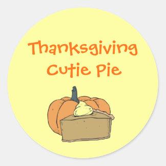 Thanksgiving Cutie Runt Klistermärke