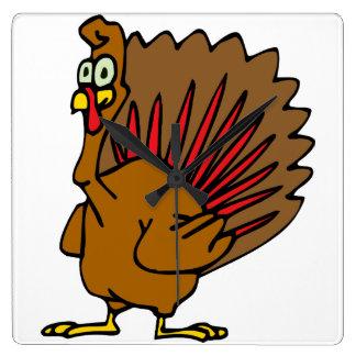 Thanksgiving Turkiet Fyrkantig Klocka