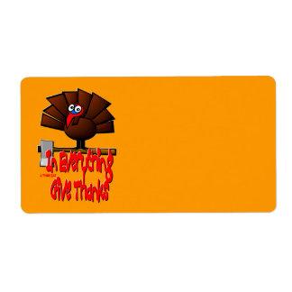 Thanksgiving Turkiet - i ALLT getack Fraktsedel