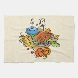 Thanksgiving Turkiet Kökshandduk