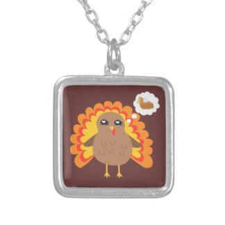 Thanksgiving Turkiet Silverpläterat Halsband