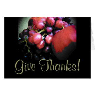 Thanksgivingen - ge tack hälsningskort