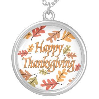 Thanksgivinghalsband Silverpläterat Halsband