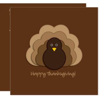 Thanksgivingkalkon Fyrkantigt 13,3 Cm Inbjudningskort
