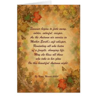 Thanksgivingkort med poesi hälsningskort