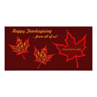 Thanksgivinglöv Fotokort