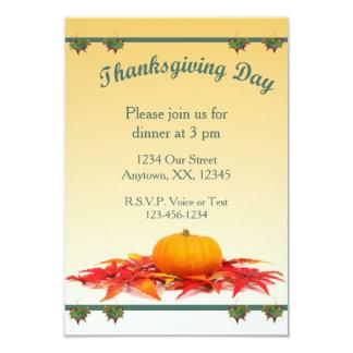 Thanksgivingmiddag 8,9 X 12,7 Cm Inbjudningskort