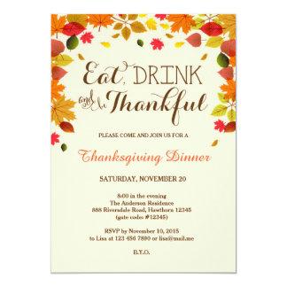 Thanksgivingmiddaginbjudan 12,7 X 17,8 Cm Inbjudningskort