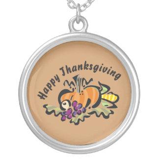 Thanksgivingskörd Silverpläterat Halsband