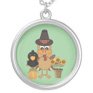 ThanksgivingTurkiet vänner Silverpläterat Halsband