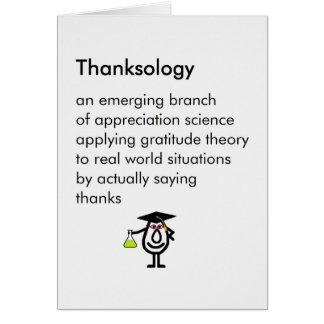 Thanksology - den roliga studentengåvan tackar dig hälsningskort