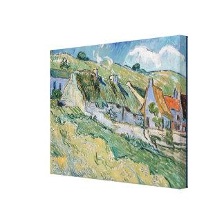 Thatched stugor av Vincent Van Gogh Canvastryck