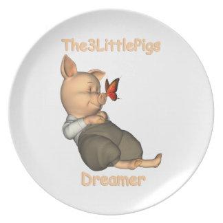 The3LittlePigs-drömmare pläterar Tallrik