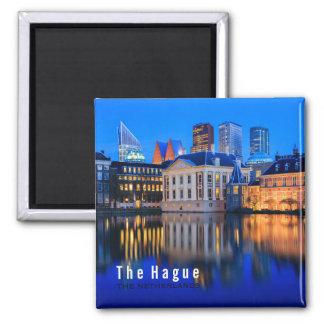 The Hague horisont på magneten för blåtttimmetext