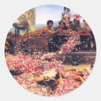 The_Roses_of_Heliogabalus - Lawrence Alma-Tadema.j Runt Klistermärke