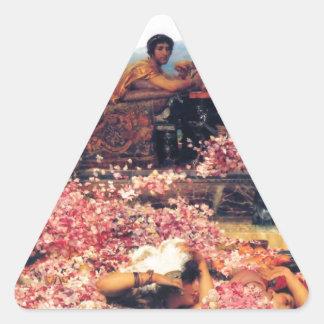 The_Roses_of_Heliogabalus - Lawrence Alma-Tadema.j Triangelformat Klistermärke
