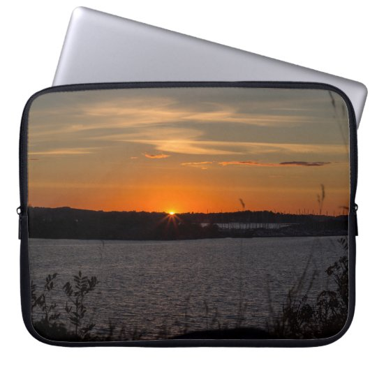 The summer sunset laptop sleeve