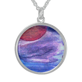 The sun and clouds sterling silver halsband