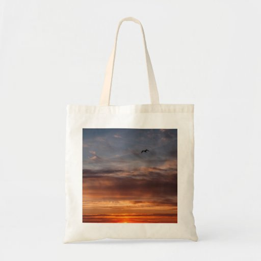 The Sunset Bird Tote Bags