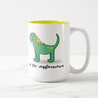 the veggiesaurus Två-Tonad mugg