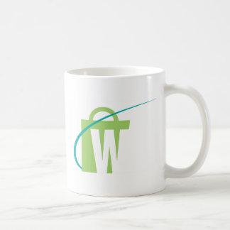 "The Worlds Biggest: White ""W"" Mug"