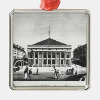Theatren de l'Odeon, c.1830 Julgransprydnad Metall