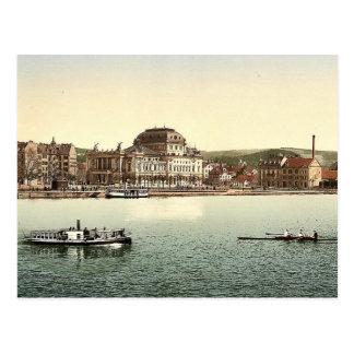 Theatren och Utoquayen, Zurich, Schweitz Vykort