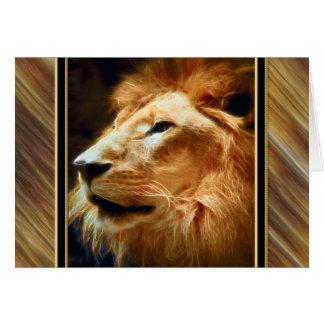 Thee majestätiskt lejont hälsningskort