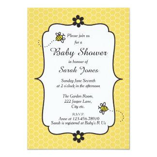 Themed baby showerinbjudan för gullig humla 11,4 x 15,9 cm inbjudningskort
