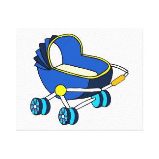 themed barnvagn graphic png för blått canvasduk med gallerikvalitet