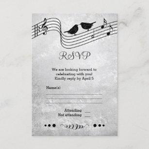 a291cf69febe Themed bröllop OSAkort för svartvit musik OSA Kort