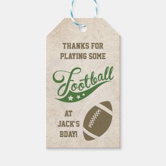 Themed favörmärkre för fotboll presentetikett