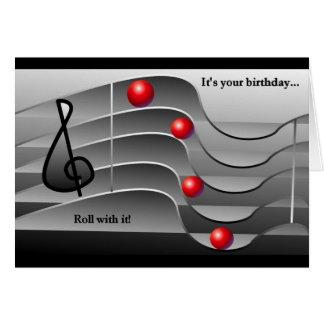 Themed födelsedaghälsningar för musik hälsningskort