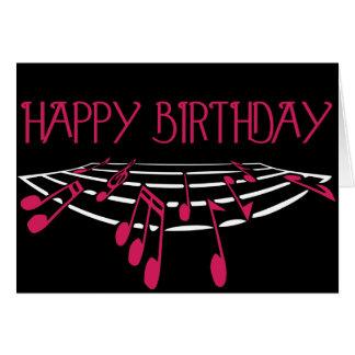 Themed födelsedagkort för musik - rosa
